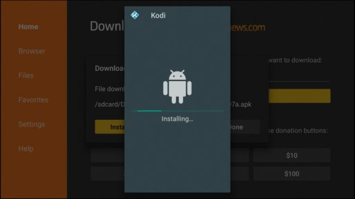 Installeer Kodi Downloader